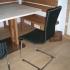 Esszimmer - Esstisch mit Metallfuß