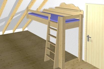 Kinderzimmer - Hochbett, Entwurf
