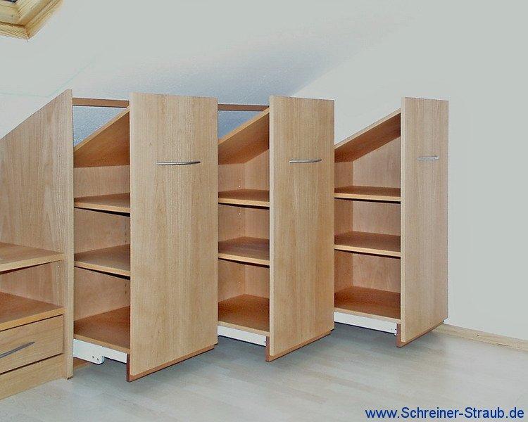 m bel unter der dachschr ge schreiner straub. Black Bedroom Furniture Sets. Home Design Ideas