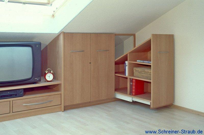 Möbel Für Dachschrä möbel unter der dachschräge schreiner straub