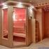 Sauna - Hemlock / Fichte - Außenansicht mit Sternenhimmel