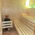 Sauna - Hemlock / Fichte - Inneneinrichtung, Saunaofen mit Sole-Verdampfer