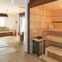 Badezimmer Sauna - Ahorn Paneele - Außenansicht