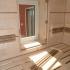 Badezimmer Sauna - Ahorn Paneele - Innenansicht, Fenster