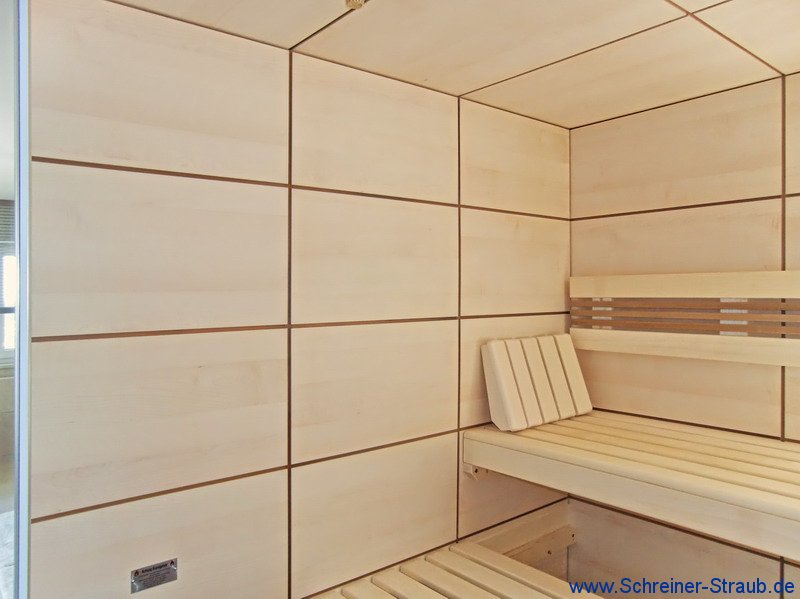 sauna im badezimmer integriert innenr ume und m bel ideen. Black Bedroom Furniture Sets. Home Design Ideas