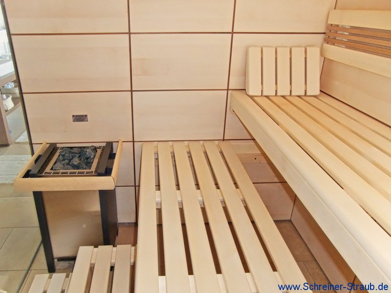 sauna im badezimmer integriert innenr ume und m bel ideen. Black Bedroom Furniture Sets. Home Design Ideas