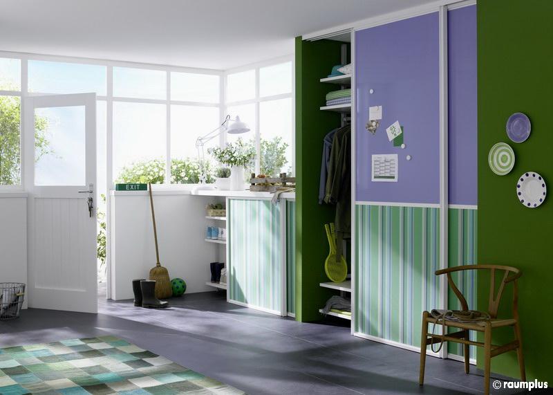 garderobe mit schiebetr good garderobe buche fr flur. Black Bedroom Furniture Sets. Home Design Ideas
