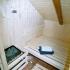 Gartensauna - Balkon Sauna - Inneneinrichtung, Saunaofen