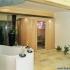 Sauna, rund - Außenansicht mit Badezimmer