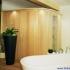 Sauna, rund - Seitenansicht