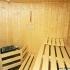 Sauna, rund - Inneneinrichtung, Saunaofen und Bank