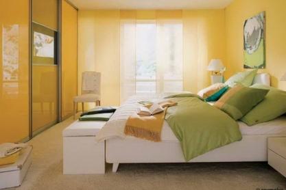 Schiebetür Schlafzimmerschrank, gelb