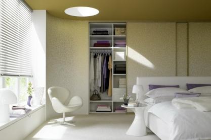 Schlafzimmer - Einbau-Schiebetürschrank, gold