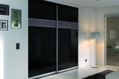 Raumteiler - Glas, schwarz