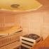 Massivholz-Sauna - Saunaofen mit Sole-Verdampfer