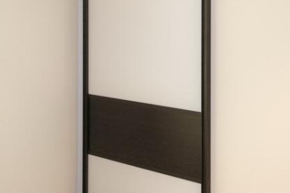 Zimmerschiebetüre - Alu-Glas, schwarz-weiss