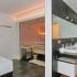 Glassauna - Außenansicht mit Waschtisch und Badewanne