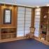 Shoji - Schiebetür Einbauschrank - Vorzimmer - Eckansicht, teilweise geöffnet, beleuchtet