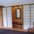 Shoji - Schiebetür Einbauschrank - Vorzimmer - Nische mit Bild, beleuchtet