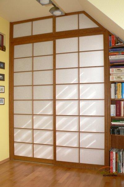 Bücherregal Schiebetür shoji raumteiler schreiner straub wellness wohnen