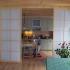 Shoji Schiebetür Raumteiler - Küche - Fichte, geölt - geöffnet