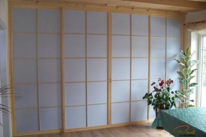 Shoji Schiebetür Raumteiler - Küche - Fichte, geölt