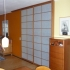 Shoji Schiebetür Raumteiler - Wohnzimmer - Kirschbaum, geölt - Ansicht von rechts