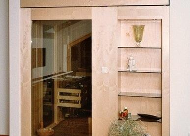 Einbausauna - Dachschräge - Außenansicht