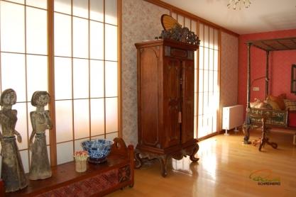 Shoji Schiebetür Fenster - Schlafzimmer - Zeder, geölt - Ansicht von links