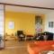 Shoji Schiebetür Raumteiler - Wohnzimmer - Zeder, geölt - geöffnet, alle Türen links
