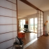 Shoji Schiebetür Raumteiler - Wohnzimmer - Zeder, geölt - Ansicht Rückseite
