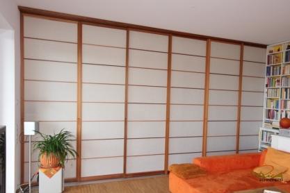 Shoji Schiebetür Raumteiler - Wohnzimmer - Zeder, geölt