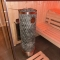 Sauna, verglast - Fichte und Räuchereiche, Inneneinrichtung