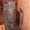 Sauna, verglast - Fichte und Räuchereiche, Saunaofen