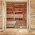 Altholz Sauna - Ein Blick durchs Fenster