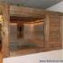 Badezimmer Sauna - Altholzsauna - Seitenansicht, rechts