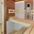 Badezimmer Sauna - Altholzsauna - Innenansicht, Einrichtung