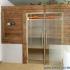 Badezimmer Sauna - Altholzsauna - Außenansicht, frontal