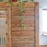 Badezimmer Sauna - Altholzsauna - Außenansicht, Seitenwand