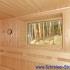 Badezimmer Sauna mit Fenster - Innenansicht