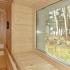 Badezimmer Sauna mit Fenster - Detailansicht: Fenster