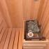 Badezimmer Sauna - Kernapfel Dekor - Innenansicht, Saunaofen