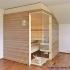 Dachschräge Sauna - waagerechte Außenverkleidung - Ansicht