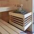 Dachschräge Sauna - waagerechte Außenverkleidung - Saunaofen mit Soleverdampfer