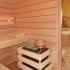 Badezimmer Sauna - Saunaofen mit Soleverdampfer