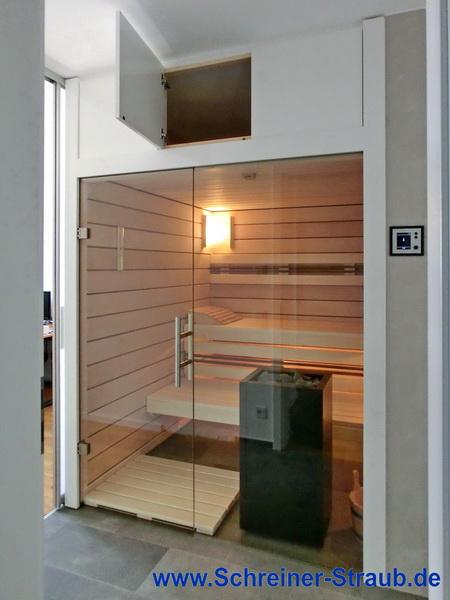 einbausauna korrekt und kosteng nstig schreiner straub. Black Bedroom Furniture Sets. Home Design Ideas