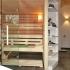 Badezimmer Sauna - Erle mit Glasfront - Frontalansicht