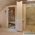 Badezimmer Sauna mit Dusche