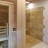 Badezimmer Sauna mit Dusche - Designregal