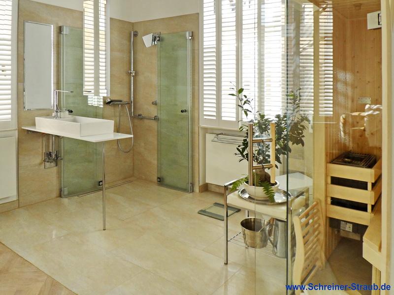 integrirte sauna ins badezimmer
